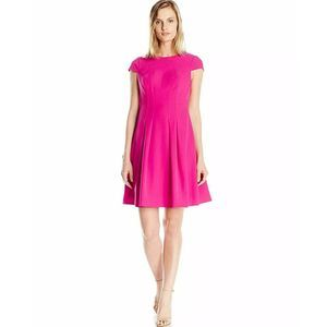 Adrianna Papell Pleated Power Stretch Dress 4P NWT